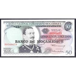 Мозамбик 50 эскудо 1970 (1976 г.) (MOZAMBIQUE 50 Escudos 1970 (1976)) P116:Unc