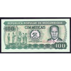 Мозамбик 100 метикалей 1980 г.  (MOZAMBIQUE 100 Meticais 1980) P126:Unc