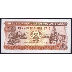 Мозамбик 50 метикалей 1986 г.  (MOZAMBIQUE 50 Meticais 1986) P129b:Unc