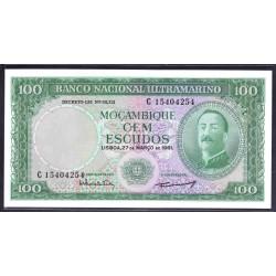 Мозамбик 100 эскудо 1961 г. (MOZAMBIQUE 100 Escudos 1961) P109b:Unc