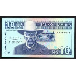 Намибия 10 долларов ND (1993 г.) (NAMIBIA 10 Namibia Dollars ND (1993)) P1:Unc
