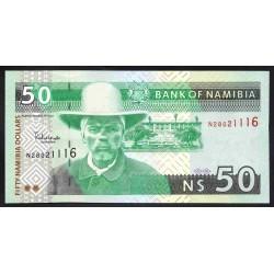 Намибия 50 долларов ND (NAMIBIA 50 Namibia Dollars ND) P8а:Unc