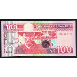 Намибия 100 долларов ND (NAMIBIA 100 Namibia Dollars ND) P9А:Unc