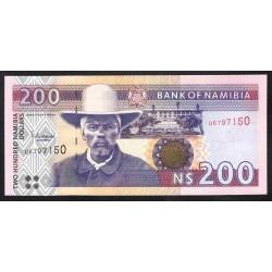 Намибия 200 долларов ND (NAMIBIA 200 Namibia Dollars ND) P10b:Unc