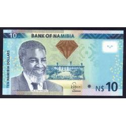 Намибия 10 долларов 2012 г. (NAMIBIA 10 Namibia Dollars 2012) P11а:Unc