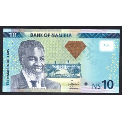 Намибия 10 долларов 2013 г. (NAMIBIA 10 Namibia Dollars 2013) P11b:Unc
