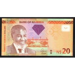 Намибия 20 долларов 2011 г. (NAMIBIA 20 Namibia Dollars 2011) P12а:Unc