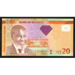 Намибия 20 долларов 2013 г. (NAMIBIA 20 Namibia Dollars 2013) P12b:Unc