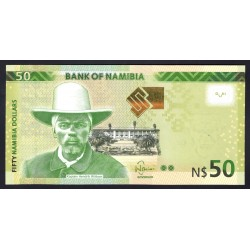 Намибия 50 долларов 2012 г. (NAMIBIA 50 Namibia Dollars 2012) P13а:Unc