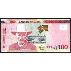 Намибия 100 долларов 2012 г. (NAMIBIA 100 Namibia Dollars 2012) P14:Unc