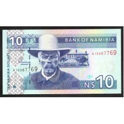 Намибия 10 долларов ND (NAMIBIA 10 Namibia Dollars ND) P4b:Unc