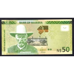 Намибия 50 долларов 2016 г. (NAMIBIA 50 Namibia Dollars 2016) P13b:Unc