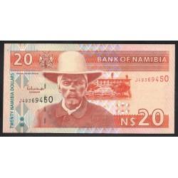 Намибия 20 долларов ND (NAMIBIA 20 Namibia Dollars ND) P6b:Unc