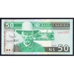 Намибия 50 долларов ND (NAMIBIA 50 Namibia Dollars ND) P7:Unc