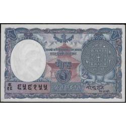 Непал 1 мохру / рупий п/д 1951 (1953-1956 год) (Nepal 1 mohru / rupee AD 1951 (1953-1956 year)) P 1b:Unc