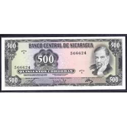 Никарагуа 500 кордоба 1972 г. (NICARAGUA 500 Córdobas 1972) P127:Unc