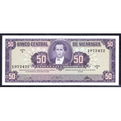 Никарагуа 50 кордоба 1968 г. (NICARAGUA 50 Córdobas 1968) P119а:Unc