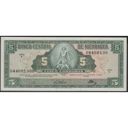 Никарагуа 5 кордоба 1968 г. (NICARAGUA 5 Córdobas 1968) P116:Unc