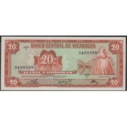 Никарагуа 20 кордоба 1972 г. (NICARAGUA 20 Córdobas 1972) P124:Unc
