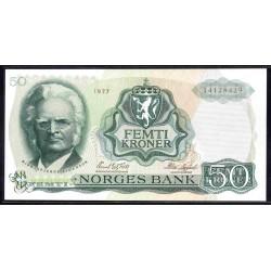 Норвегия 50 крон 1977 год (NORWAY 50 Kroner 1977) P37d:Unc