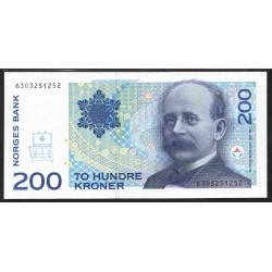 Норвегия 200 крон 1994 год (NORWAY 200 Kroner 1994) P48а:Unc
