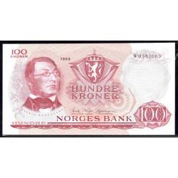 Норвегия 100 крон 1968 год (NORWAY 100 Kroner 1968) P38b:Unc
