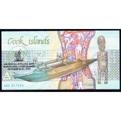 Острова Кука 3 доллара 1992 г. (COOK ISLANDS 3 Dollars 1992) P6:Unc