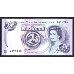 Остров Мэн 1 фунт ND (1991 г.) (ISLE OF MAN 1 Pound ND (1991)) P40b:Unc
