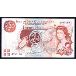 Остров Мэн 20 фунтов ND (2002 г.) (ISLE OF MAN 20 Pounds ND (2002)) P45b:Unc