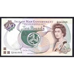 Остров Мэн 10 фунтов ND (2002 г.) (ISLE OF MAN 10 Pounds ND (2002)) P44b:Unc