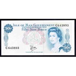 Остров Мэн 50 пенсов ND (1979 г.) (ISLE OF MAN 50 New Pence ND (1979)) P33а:Unc