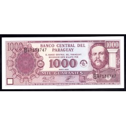 Парагвай 1000 гуарани 2003 г. (PARAGUAY 1000 Guaraníes 2003) P201b:Unc
