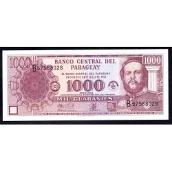 Парагвай 1000 гуарани 2002 г. (PARAGUAY 1000 Guaraníes 2002) P201b:Unc
