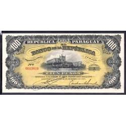 Парагвай 100 песо 1907 г. (PARAGUAY 100 Pesos 1907) P159:Unc