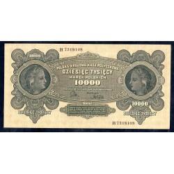 Польша 10000 марок 1922 г. (POLAND 10000 Marek Polskich 1922) Р32:аUnc
