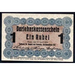 Польша 1 рубль 1916 г. (оккупация) (POLAND 1 Rubel 1916) P-R122:Unc - OST