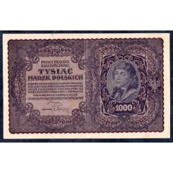 Польша 1000 марок 1919 г. (POLAND 1000 Marek Polskich 1919) Р29:XF