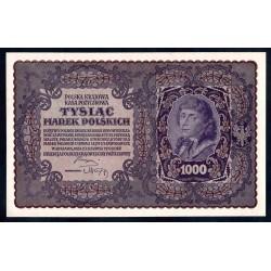 Польша 1000 марок 1919 г. (POLAND 1000 Marek Polskich 1919) Р29:Unc