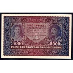 Польша 5000 марок 1920 г. (POLAND 5000 Marek Polskich 1920) Р31:Unc