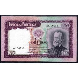 Португалия 100 эскудо 1961 г. (PORTUGAL 100 Escudos 1961) P165:VF+