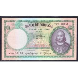 Португалия 20 эскудо 1959 г. (PORTUGAL 20 Escudos 1959) P153b:aUnc