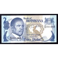 Ботсвана 2 пулы ND (1982 год) (Botswana 2 pula ND(1982g.)) 7d:Unc