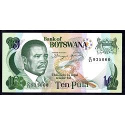 Ботсвана 10 пула ND (1992 год) (Botswana 10 pula ND (1992g.)) P12a:Unc