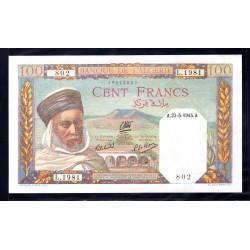 Алжир 100 франков 1945 год (Algeria 100 francs 1945g.) P85:Unc