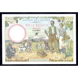 Алжир 1000 франков 1942 год (Algeria 1000 francs 1942g.) P89:aUnc