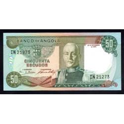 Ангола 50 эскудо 1972 год (Angola 50 escudo 1972g.) P100:Unc