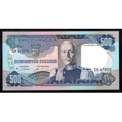 Ангола 500 эскудо 1972 год (Angola 500 escudo 1972g.) P102:Unc