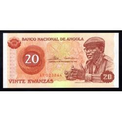 Ангола 20 кванза 1976 год (Angola 20 kwanzas 1976g.) P109:Unc