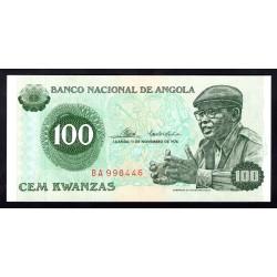 Ангола 100 кванза 1976 год (Angola 100 kwanzas 1976g.) P111:Unc