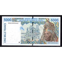 Западные Африканские Штаты (Бенин) 5000 франков ND (1992 - 2002) год (West African States (Benin) 5000 francs ND (1992 - 2002g.) P213b:Unc
